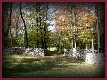 Rock Wall ~ View from our living room window *Fall
